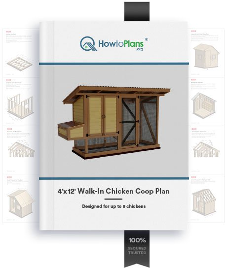 4x12 walk in chicken coop plan product