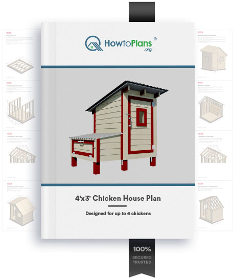 4x3 chicken house plan product
