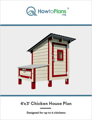 4x3 chicken house plan