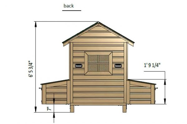 4x4 chicken house back side preview