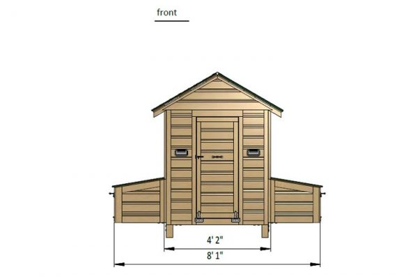 4x4 chicken house front side preview