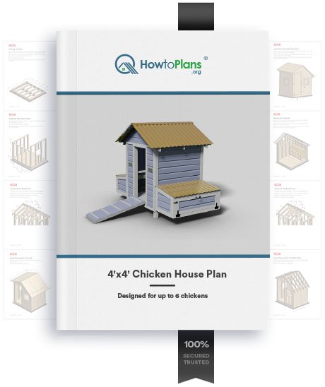 4x4 chicken house plan product