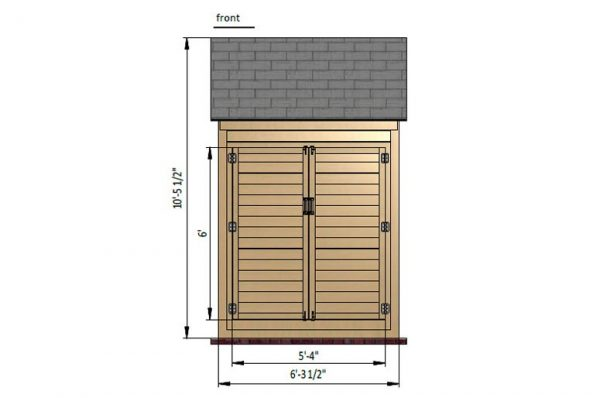 4x6 gable bike shed front side preview