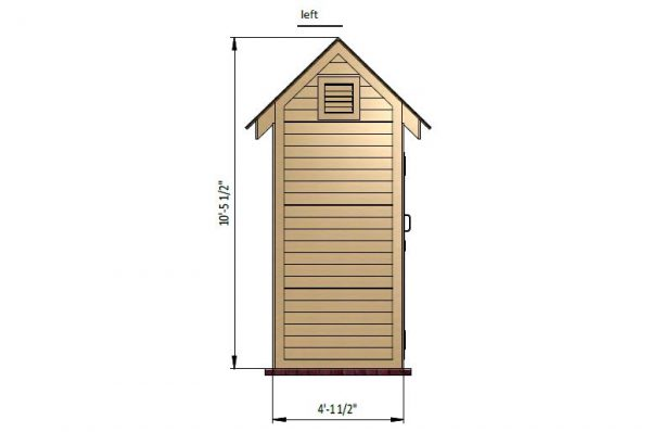 4x6 gable bike shed left side preview
