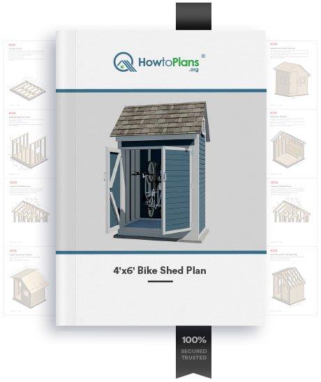 4x6 bike shed plan product
