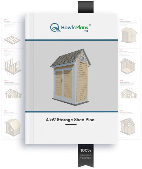 4x6 gable storage shed plan product