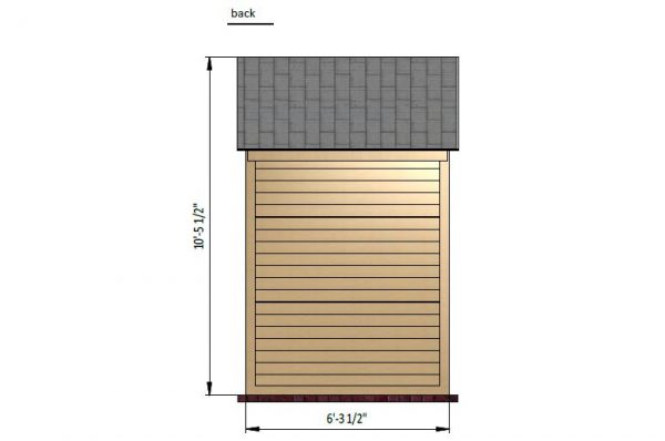 4x6 gable storage shed back side preview