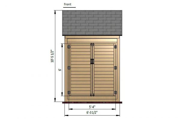 4x6 gable storage shed front side preview