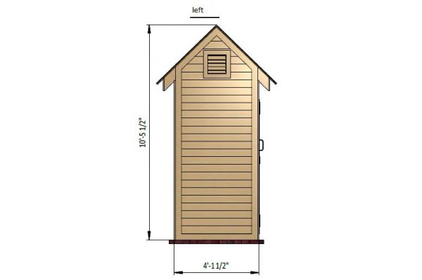 4x6 gable storage shed left side preview