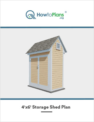 4x6 storage shed plan