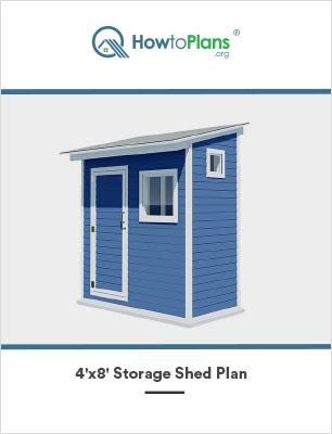 4x8 lean to storage shed plan
