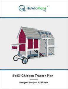 5x13 chicken tractor plan