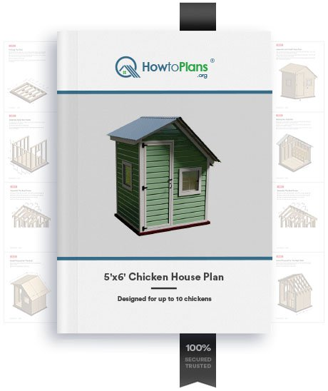 5x6 chicken house plan product