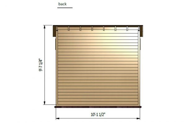 6x10 lean to storage shed back side preview