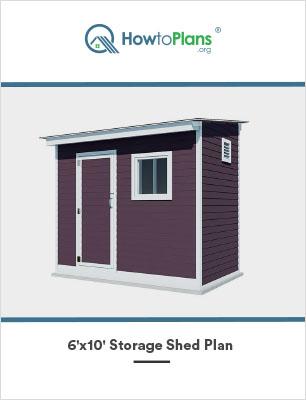 6x10 lean to storage shed plan