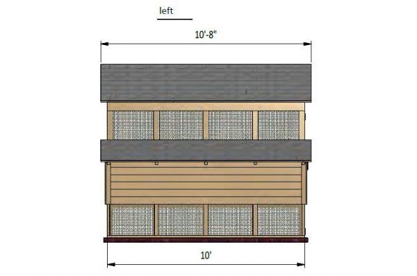 6x10 walk in chicken coop left side preview