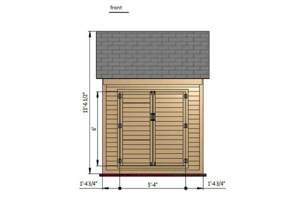 6x8 gable bike shed front side preview