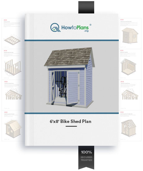 6x8 gable bike shed plan product