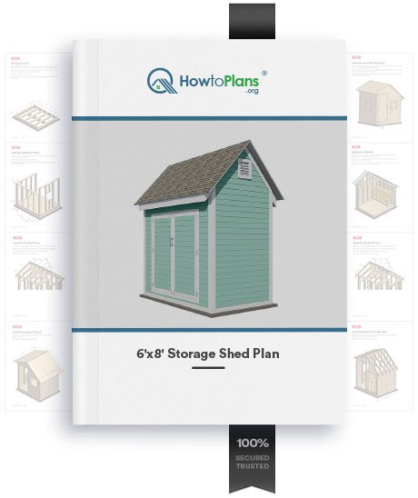 6x8 gable storage shed plan product