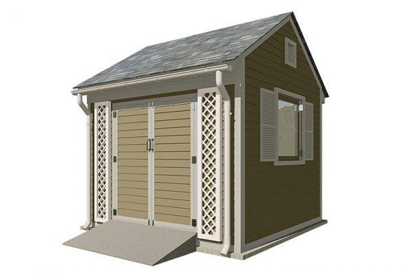 10x10 gable garden shed