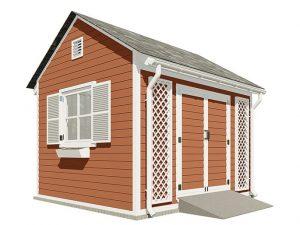 10x12 gable garden shed