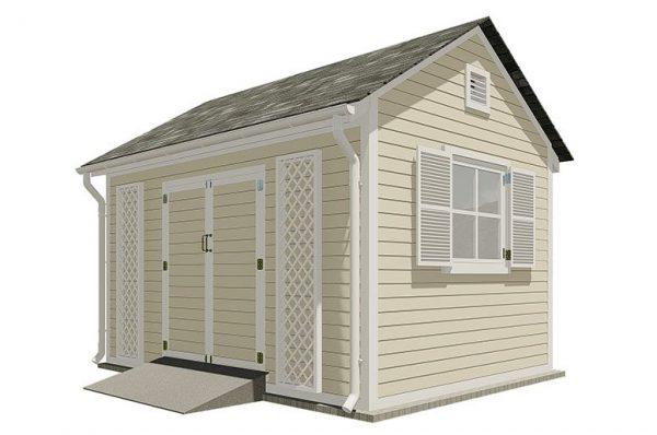 10x14 gable garden shed