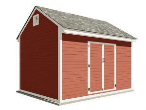 10x14 gable storage shed