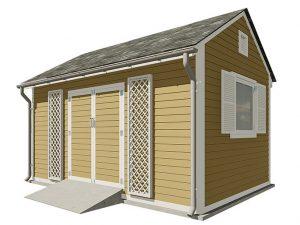 10x16 gable garden shed