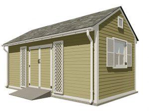 10x20 gable garden shed