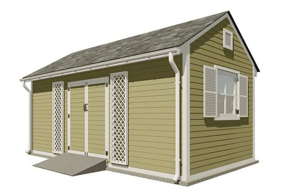 10x20 gable garden shed