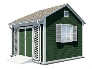 12x12 gable garden shed
