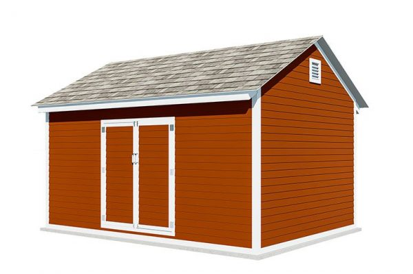 12x16 gable storage shed