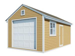 12x20 gable garage shed