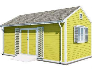 12x20 gable garden shed