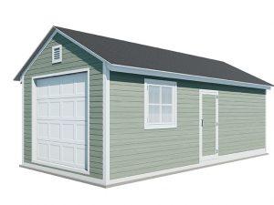 12x24 gable garage shed