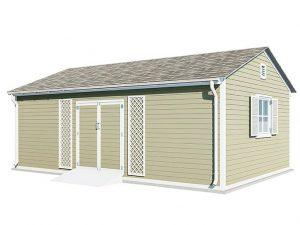 16x20 gable garden shed