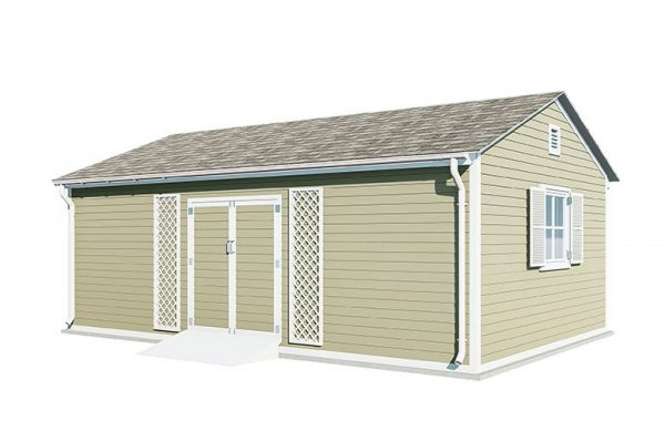 16x20 gable garden shed
