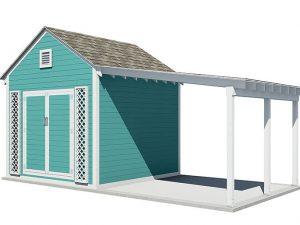 20x10 gable garden shed