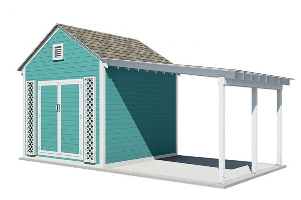 20x10 gable garden shed