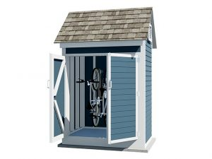 4x6 gable bike shed