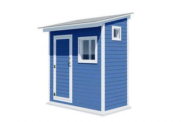 4x8 lean to storage shed