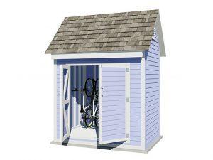 6x8 gable bike shed
