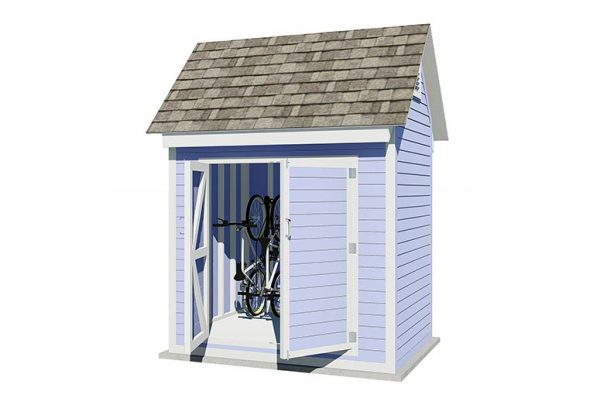 6x8 gable bike shed