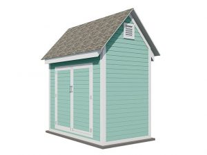 6x8 gable storage shed