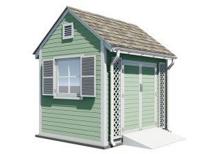 8x10 gable garden shed