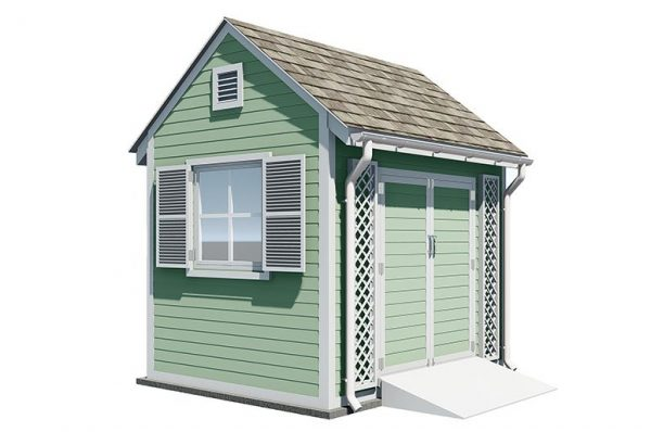 8x10 gable garden shed