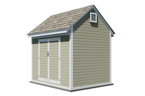 8x10 gable storage shed