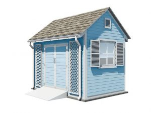 8x12 gable garden shed
