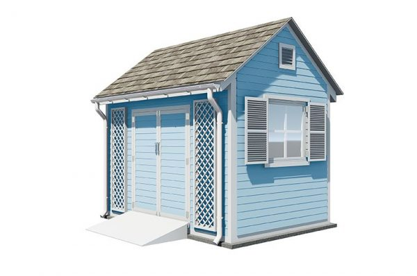 8x12 gable garden shed