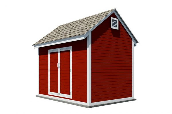 8x12 gable storage shed